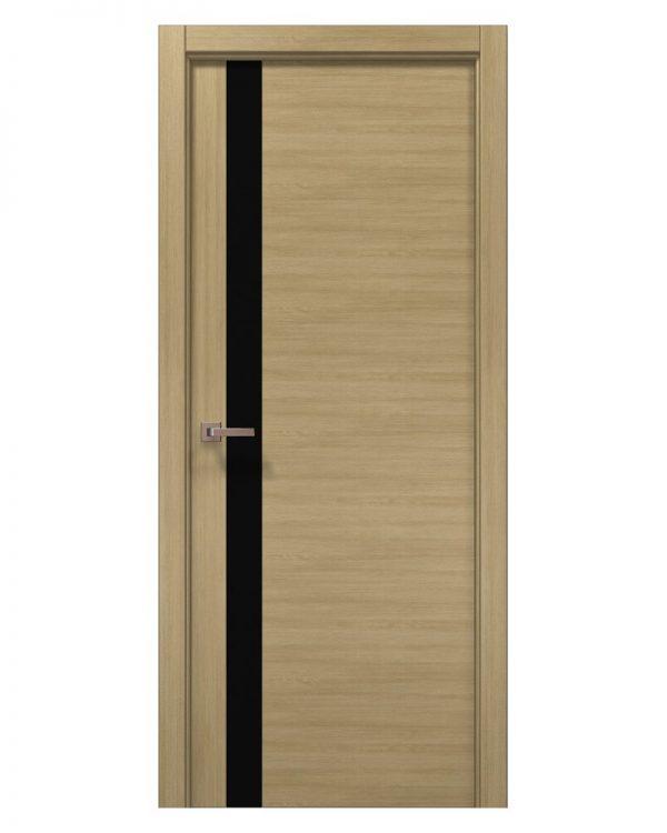 Межкомнатные двери Папа Карло - Elegance Lungo Черное стекло