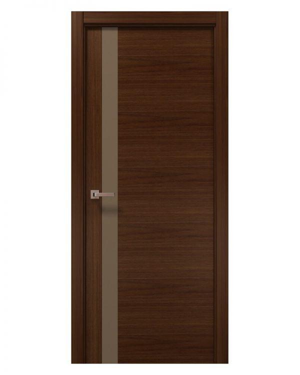 Межкомнатные двери Папа Карло - Elegance Lungo Стекло Мокко