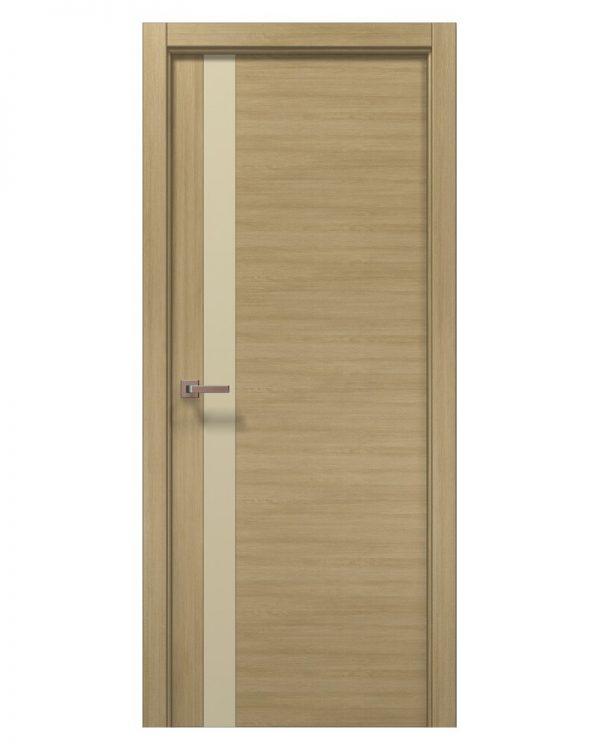 Межкомнатные двери Папа Карло - Elegance Lungo Бежевое стекло