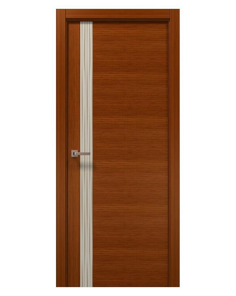 Межкомнатные двери Папа Карло - Elegance Lungo Бежевое стекло Wave
