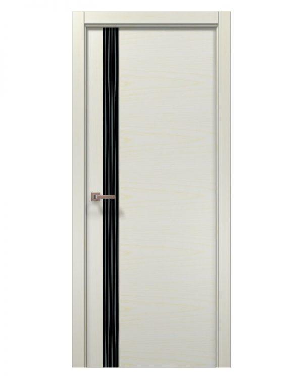 Межкомнатные двери Папа Карло - Elegance Lungo Черное стекло Wave