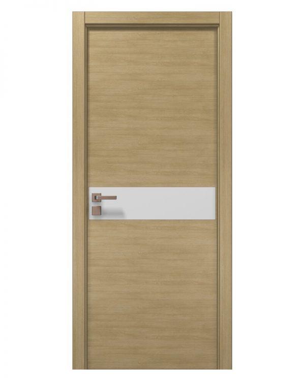 Межкомнатные двери Папа Карло - Elegance Uno Белое стекло