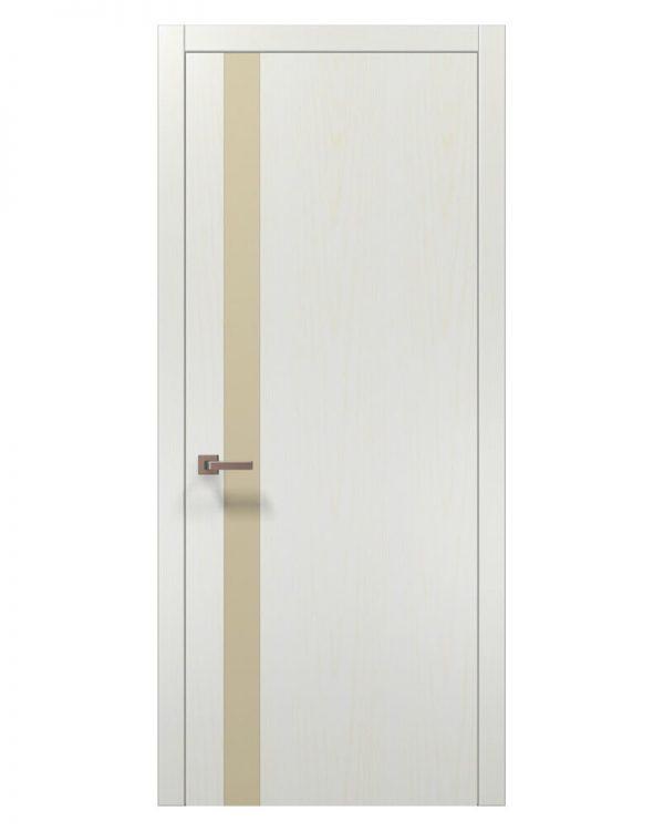 Межкомнатные двери Папа Карло - Plato PL-04AL Бежевое стекло